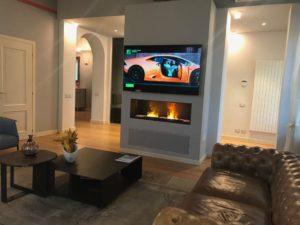 Le migliori offerte per mobile da sala o soggiorno con camino elettrico. Camino Al Bioetanolo Sotto La Tv Come Posizionarlo