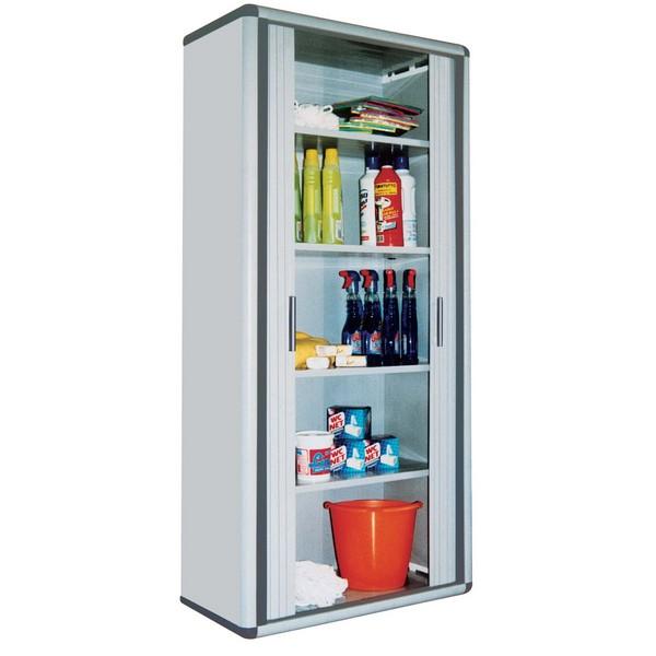 Armoire Haute En Rsine 3 Portes Avec Compartiment Range