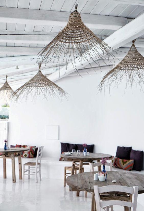 lampadari in bamboo da esterni