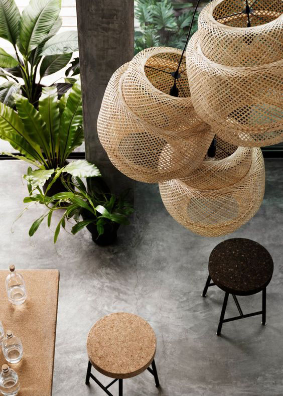 lampadari in bamboo ikea