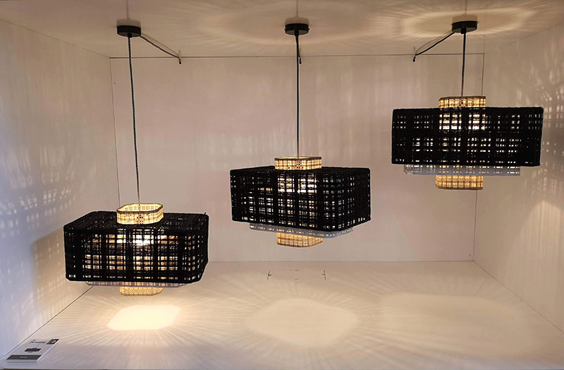 maison et objet 2019 lampade rattan forestier