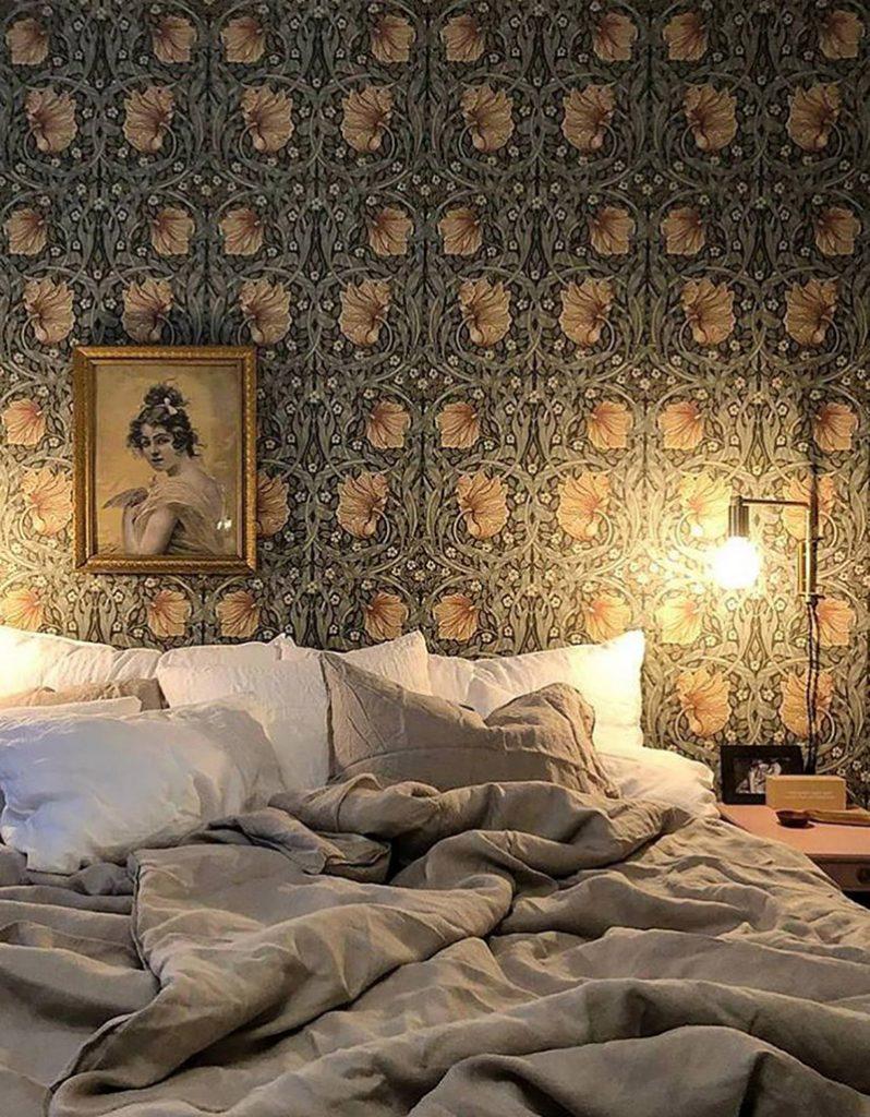 carta-da-parati-stile-botanico-camera-da-letto