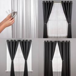 Embrasse rideau aimante gris x 2