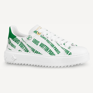 Louis Vuitton Time out trainers wit groen