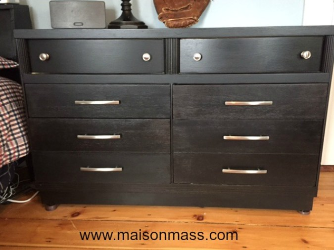 refinishing furniture, stained dresser