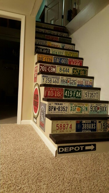 License Plate Room Decor
