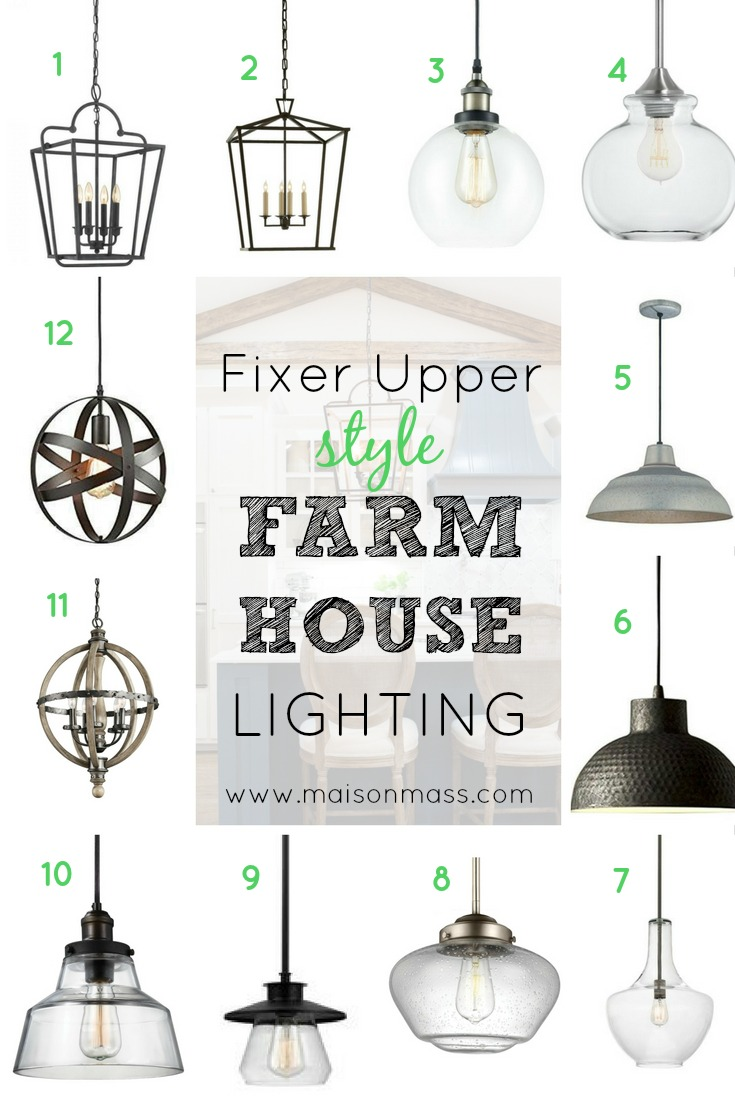 Fixer upper style farmhouse lighting