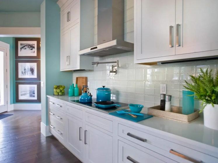 Backsplash; glass tile
