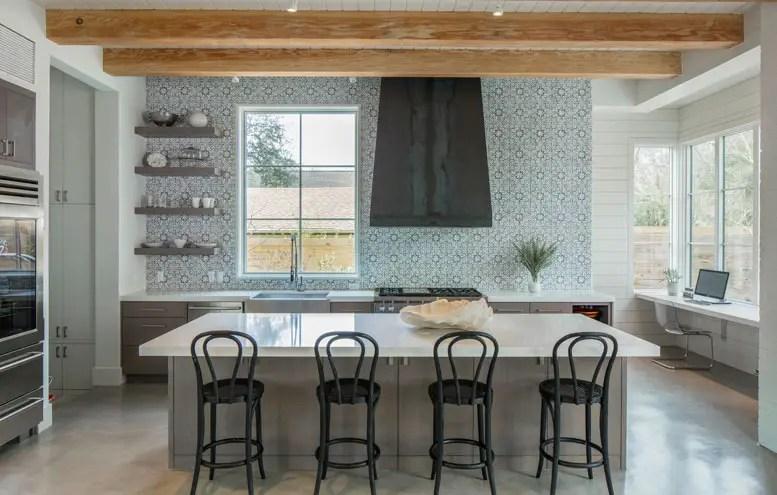Backsplash; handmade tiles