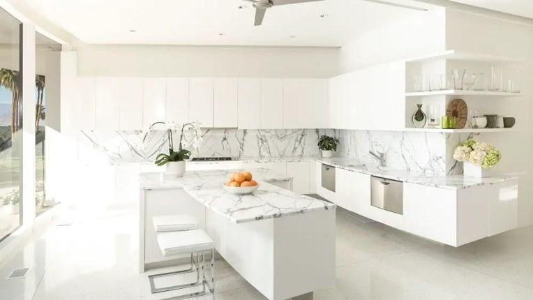 Kitchen Backsplash, Marble backsplash
