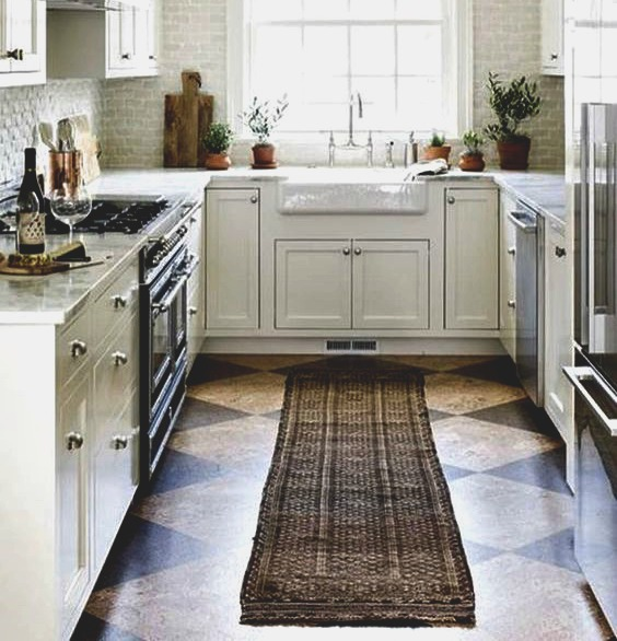 Kitchen flooring; cork