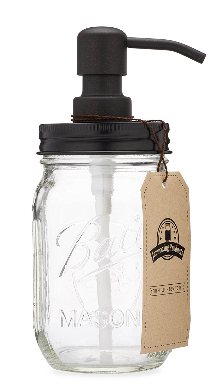 Farmhouse Mason Jar Soap Dispenser