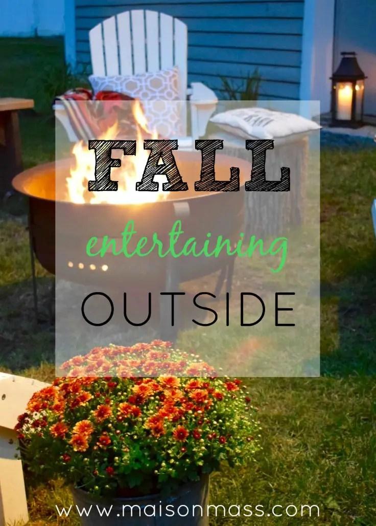 Fall entertaining outside