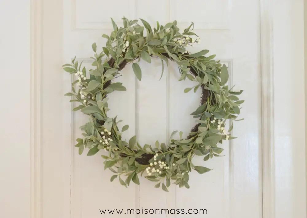 lamb ear wreath
