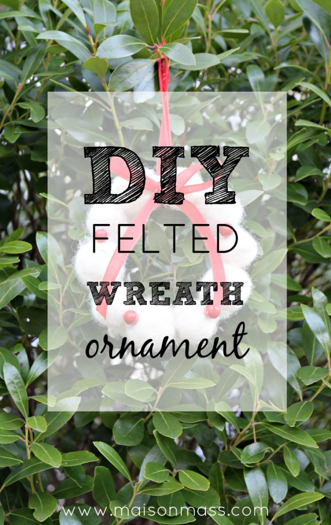 DIY felted wreath ornament feature