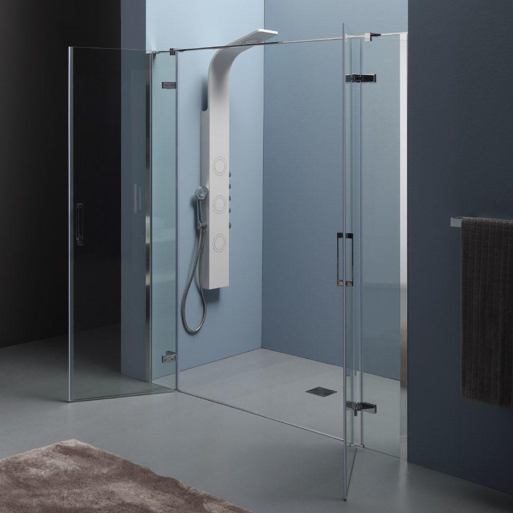 INFINITY  Box doccia a nicchia con doppia porta battente