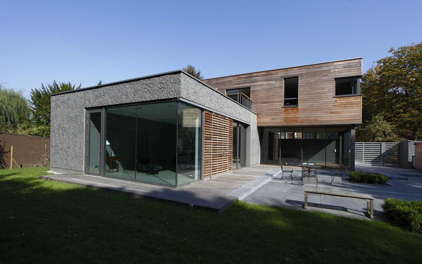 Maison contemporaine avec piscine intrieure  APLA architectes