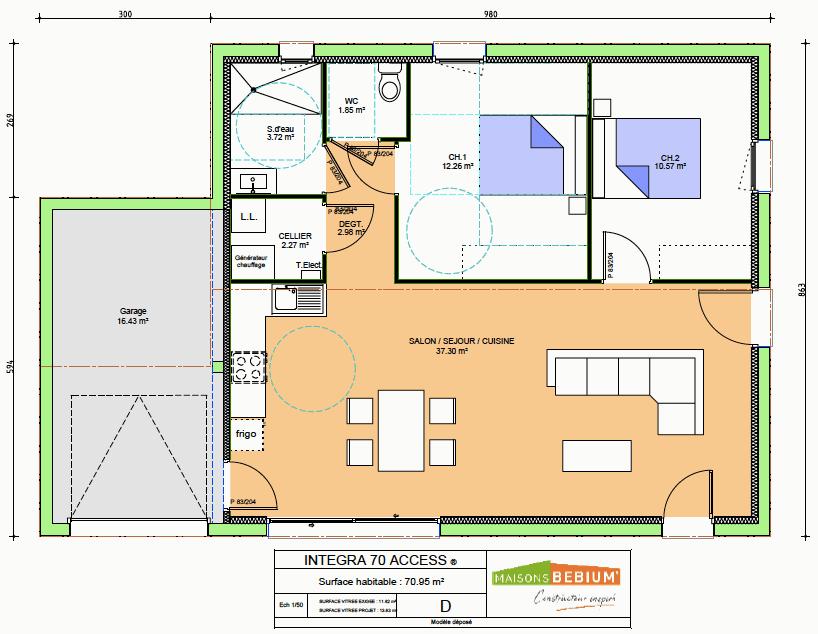 maison 70 m2 plain pied neuve prix