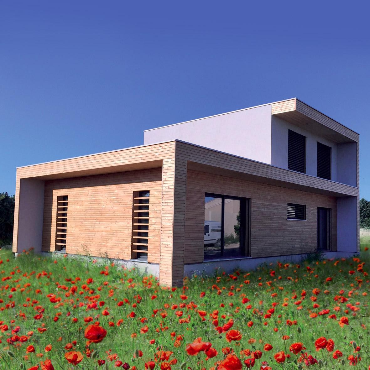 Constructeur maison bois massif gironde for Constructeur maison bois