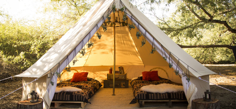 Glamping à l'écovillage de Pourgues
