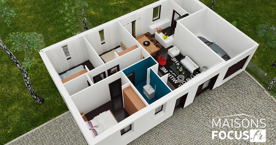 Plan maison focus 80m2 for Acheter plan maison