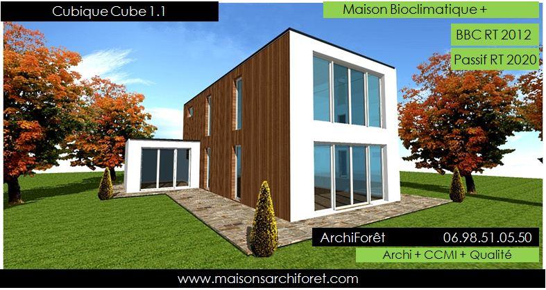 maison cubique toit 4 pant d coration de maison id es de. Black Bedroom Furniture Sets. Home Design Ideas