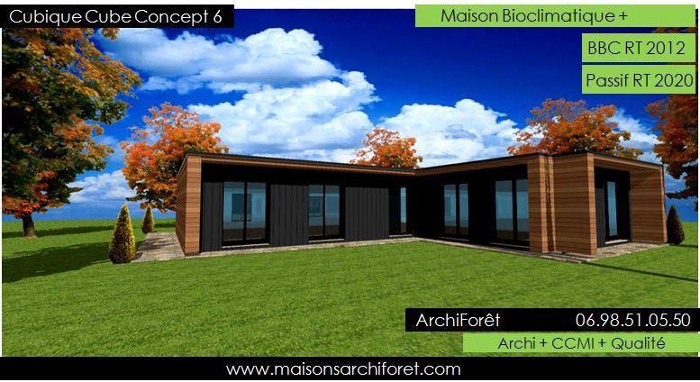 Plan Maison Ossature Bois Plain Pied Toit Plat | Ventana Blog