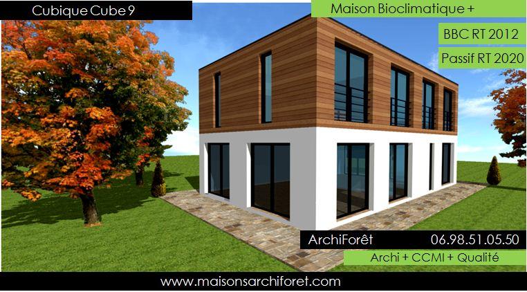 Maison cubique cube ou carree en ossature bois par votre