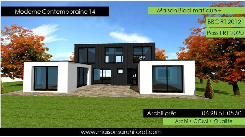 Plans de maisons et depot permis de construire par un architecte ou constructeur ossature bois