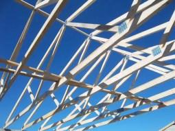 installation charpente - construction maison neuve