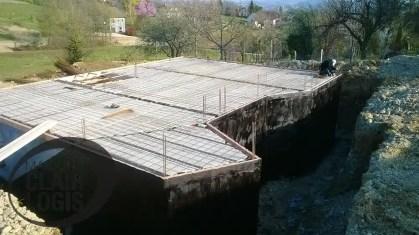 Coulage du plancher du rez-de-chaussée