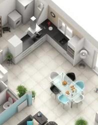 Plan maison 3D Jasmin : cuisine ouverte
