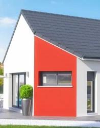 Maison moderne en L Orion - Enduit bi-ton