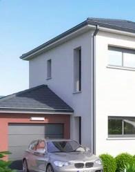 Maison moderne avec garage accolé