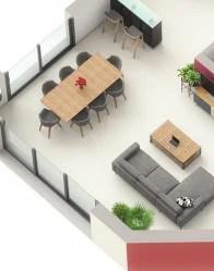 Maison moderne Orion - Séjour lumineux