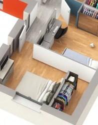 Maison individuelle Joy - Chambre avec rangements
