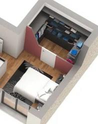 Maison à étage Onyx - Chambre parentale et dressing
