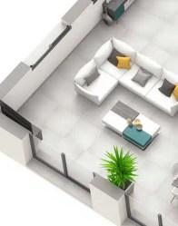 Maison contemporaine Onyx - Salon spacieux