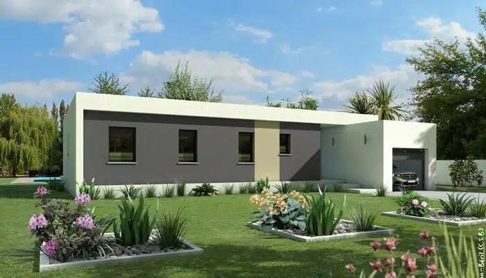 Plan maison contemporaine Jade - maison toit plat