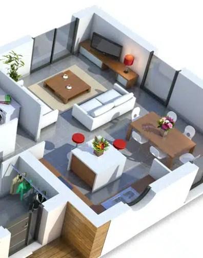 Plan maison contemporaine Améthyste - maison plain pied