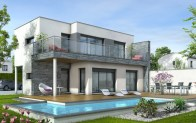 Maison toit plat Azur - plan maison contemporaine