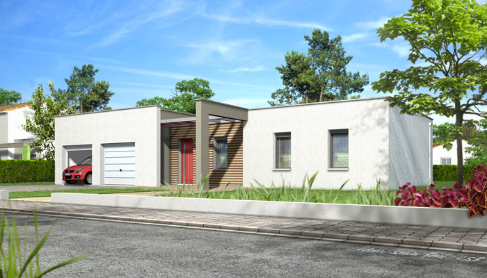 toit plat Noyer - plan maison gratuit