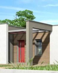 Maison toit plat avec habillage de façade