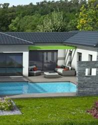 vue 3D patio - maison contemporaine Olivine