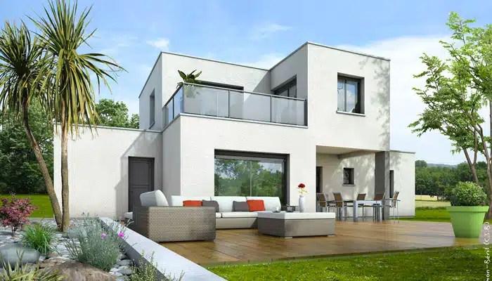 Plan maison toit plat Opaline  maison contemporaine