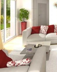Vue 3D salon/séjour - maison contemporaine Spinelle