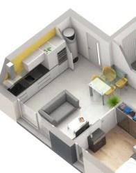 Espace de vie - plan maison double Infinity