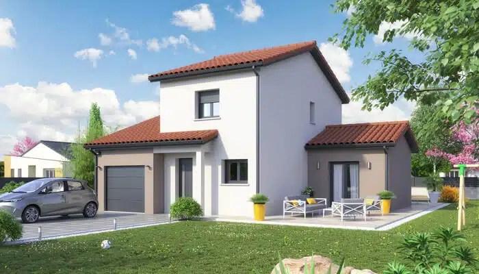 Maison de ville ecrin plan maison individuelle maisons clair logis for Plan maison 3 chambres et un bureau