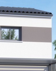 Maison individuelle Urban - enduit bi-ton