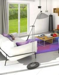 Vue 3D salon - maison plain-pied